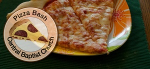 Pizza Bash header - 2 slices and a round logo