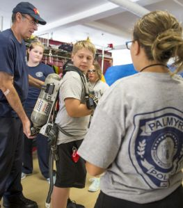 Dale P  works with kids at the Palmyra Police Youth Academy