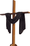 Black Drapped Cross