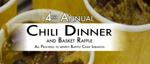 4th Annual Chili Dinner and Basket Raffle